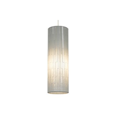 Peyton Grande 1-Light Mini Pendant Finish: Satin Nickel, Color: White, Bulb Type: 1 x 32W 120V Fluorescent