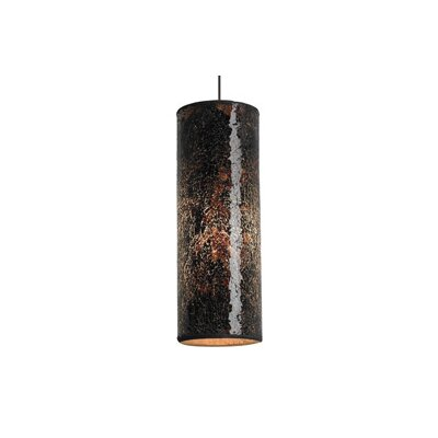Veil 1-Light Mini Pendant Finish: Satin Nickel, Color: Brown, Bulb Type: 1 x 50W Halogen