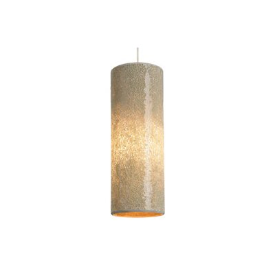 Veil 1-Light Mini Pendant Finish: Satin Nickel, Color: Latte, Bulb Type: 1 x 50W Halogen