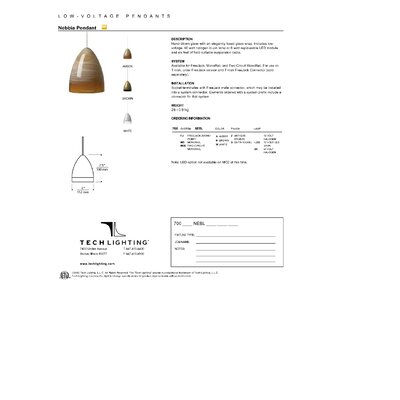 Nebbia FreeJack 1-Light Mini Pendant Finish: Satin Nickel, Bulb Type: 12 V LED 80 CRI 3000K, Shade Color: Amber