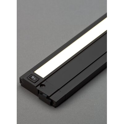 Unilume LED Under Cabinet Bar Light Finish: Black, Size: 0.74 H x 19.2 W x 2.8 D