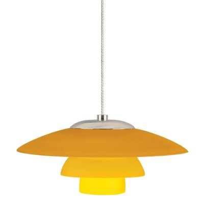 Sydney 1-Light Mini Pendant Finish: Satin Nickel, Shade Color: Amber