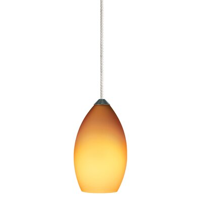 1-Light Mini Pendant Finish: Antique Bronze, Shade Color: Amber