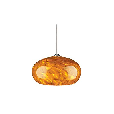 Meteor Frit 1-Light Globe Pendant Finish: Antique Bronze, Shade Color: Amber