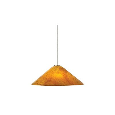 Larkspur 2-Light Mini Pendant Finish: Satin Nickel, Shade Color: Amber
