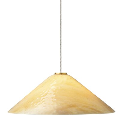 Larkspur 2-Light Mini Pendant Finish: Satin Nickel, Shade Color: Latte