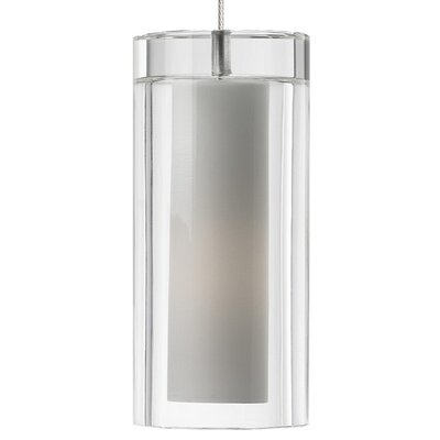 Sara Monopoint 1-Light Mini Pendant Finish: Satin Nickel, Shade: Clear