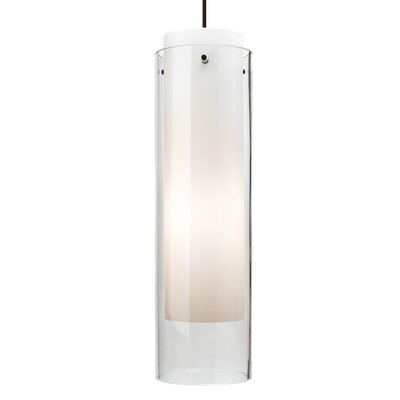 Pinkney 1-Light Mini Pendant Finish: Black, Shade Color: Clear