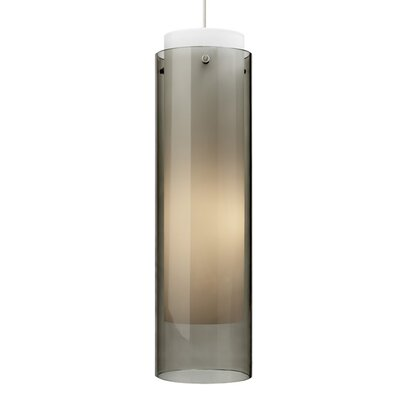 Pinkney 1-Light Mini Pendant Finish: White, Shade Color: Smoke