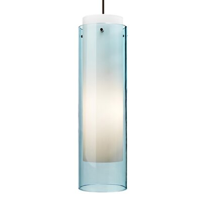 Pinkney 1-Light Mini Pendant Finish: Satin Nickel, Shade Color: Aquamarine