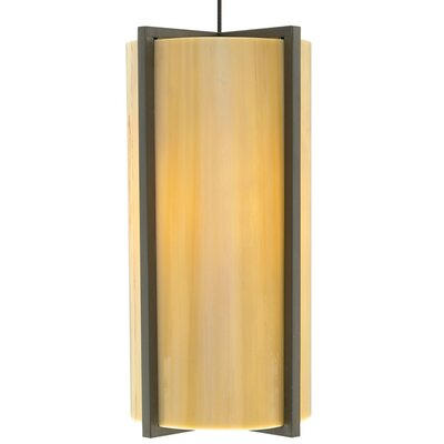 Essex 1-Light Mini Pendant Base Finish: Satin Nickel, Shade Color: Sand, Bulb Type: 90 CRI 3000K LED