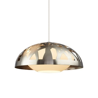 Ventana 1-Light Bowl Pendant Finish: Satin Nickel, Bulb Type: 1 x 60W120V Incandescent