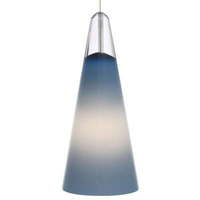 Selina FreeJack 1-Light Mini Pendant Finish: Satin Nickel, Shade Color: Steel Blue, Bulb Type: 1 x 5W Halogen