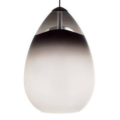 Alina Monopoint 1-Light Mini Pendant Finish: Antique Bronze, Shade: Steel Blue, Bulb Type: Halogen