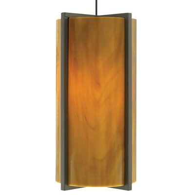 Essex 1-Light Mini Pendant Base Finish: Satin Nickel, Shade Color: Beach Amber, Bulb Type: 90 CRI 3000K LED
