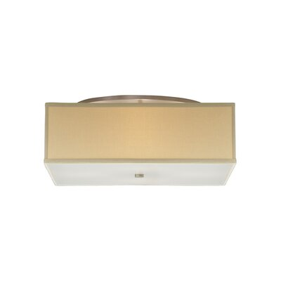 Chambers 4-Light Flush Mount Shade Color: Desert Clay