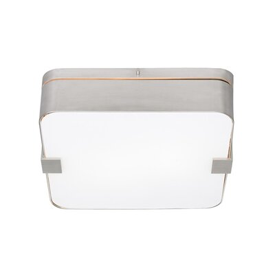 1-Light Flush Mount Finish: Antique Bronze, Color: Metal, Bulb Type: Fluorescent / 277V