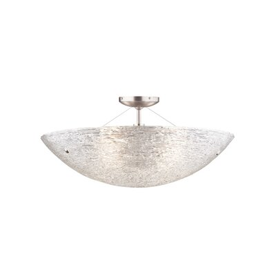 Trace 4-Light Semi Flush Mount Finish: Satin Nickel, Bulb Type: 4 x 240W Incandescent