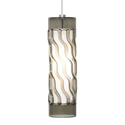 Liza Drum Pendant Base Finish: Chrome, Shade Color: Smoke