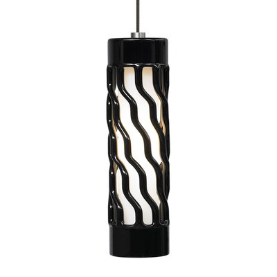 Liza Drum Pendant Shade Color: Black, Base Finish: Satin Nickel
