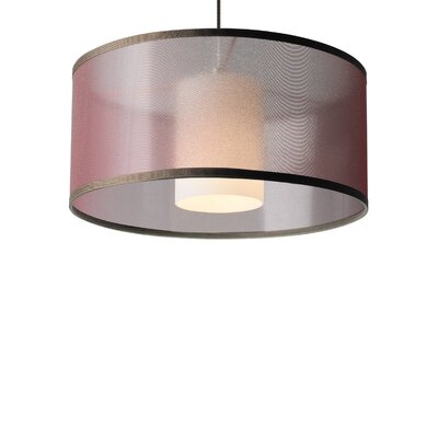Dillon Drum Pendant Shade Color: Brown, Base Finish: Satin Nickel