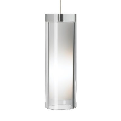 Sara Grande 1-Light Mini Pendant Finish: Satin Nickel, Shade Color: Clear, Bulb Type: 1 x 32W 277V Fluorescent