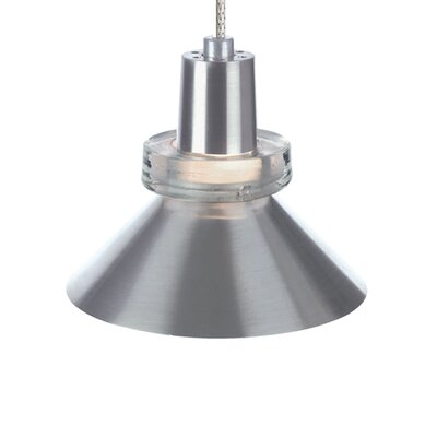 1-Light Hanging Wok Monorail Track Pendant Finish: Chrome, Shade Color: Red