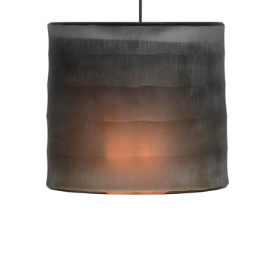 Bali Drum Pendant Shade Color: Dark Brown, Base Finish: Chrome