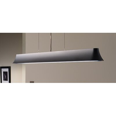 Zhane 2-Light LED Kitchen Island Pendant Finish: Black