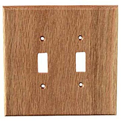 Traditional 2 Toggle Unfinished Color: Red Oak