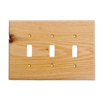 Traditional 3 Toggle Unfinished Color: Red Oak