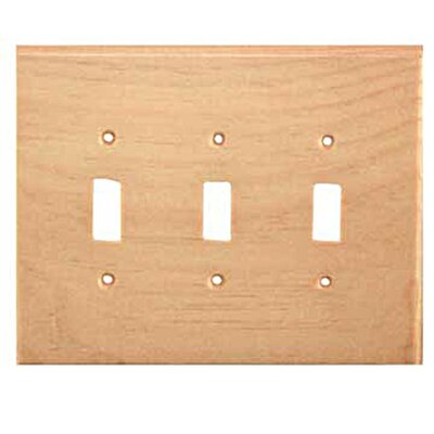 Traditional 3 Toggle Unfinished Color: Knotty Pine