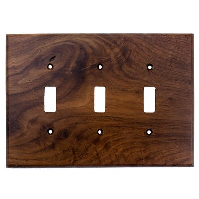 Traditional 3 Toggle Unfinished Color: Black Walnut