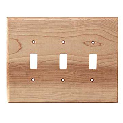 Traditional 3 Toggle Unfinished Color: Natural Maple