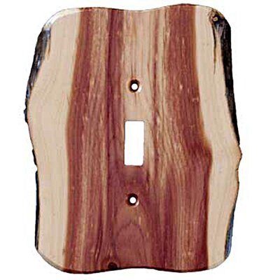 Rustic - 1 Toggle Finished Switchplate Cover Finish: Juniper