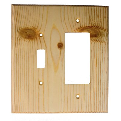 Traditional - Toggle / Rocker Unfinished Color: Knotty Pine