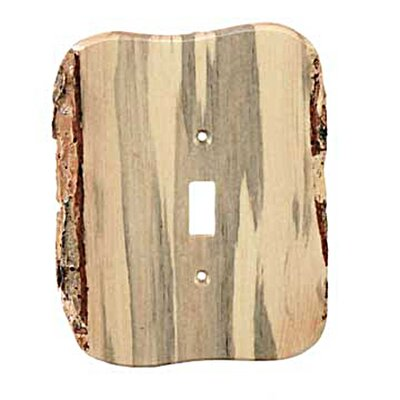 Rustic - 1 Toggle Finished Switchplate Cover Finish: Blued Pine