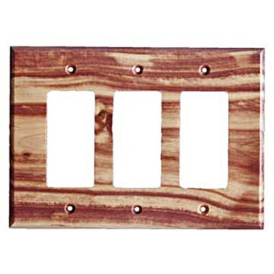 Traditional - 3 Rocker Finish: Juniper Plate
