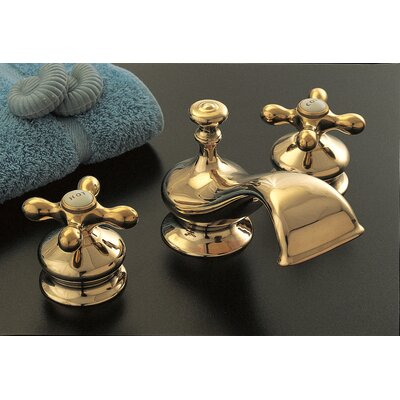 Thames Double Handle Widespread Bathroom Faucet Finish: Supercoated Brass