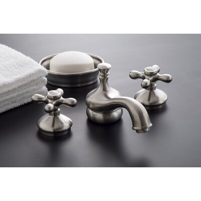 Sacramento Widespread Bathroom Faucet with Pop-Up Drain Finish: Matte Nickel