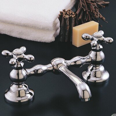 Columbia Bathroom Sink Faucet Double Handle with Drain Assembly Finish: Chrome