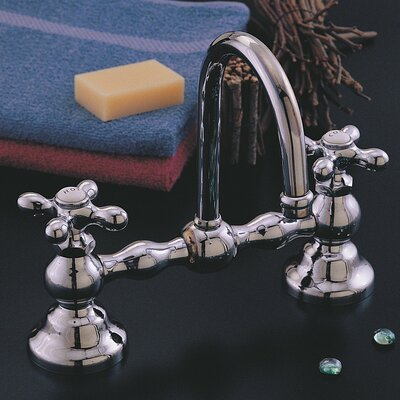 Columbia Bathroom Sink Faucet Double Handle with Drain Assembly Finish: Matte Nickel