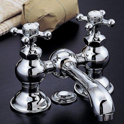 Columbia Bathroom Faucet Double Handle with Drain Assembly