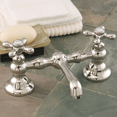 Columbia Bathroom Sink Faucet Double Handle with Drain Assembly Finish: Polished Nickel