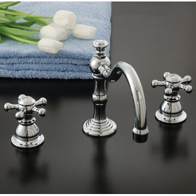 Rio Grande Bathroom Faucet Double Handle with Drain Assembly Finish: Matte Nickel