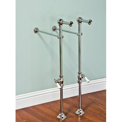 Free Standing Leg Tub Supply Set with Shutoffs Finish: Supercoat Brass