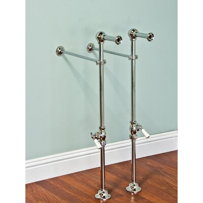 Free Standing Leg Tub Supply Set with Shutoffs Finish: Matte Nickel