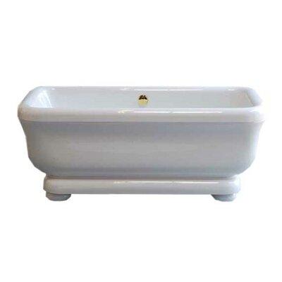Windemere 70 x 34 Soaking Bathtub Leg Finish: Supercoated Brass