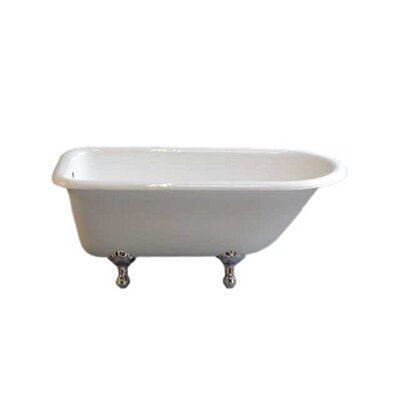 Geneva 61 x 31 Soaking Bathtub Leg Finish: Chrome, Faucet Mount: No Holes