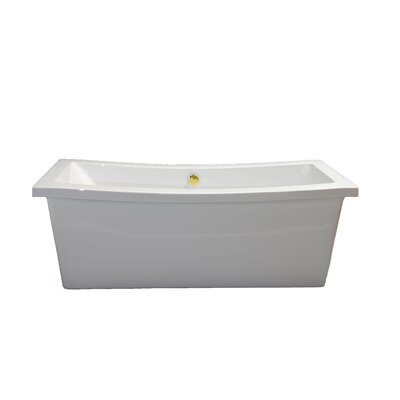 Klamath 67 x 33 Soaking Bathtub Finish: Supercoated Brass